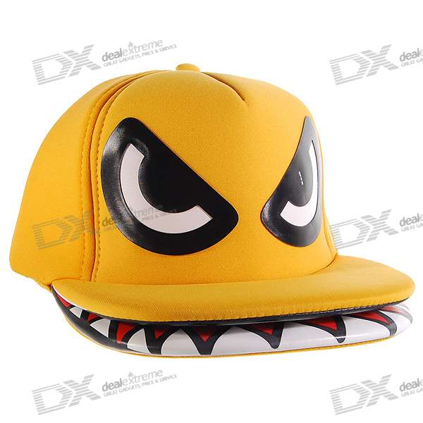 Special Duck Face Pattern Hip Pop Style Hat/Cap (Yellow)