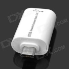 Micro USB OTG Converter Card Reader + Camera Connection Kit para Samsung - Branco (2 PCS)