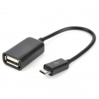 USB to Micro USB Data Cable + OTG Cable Set for Samsung - Black