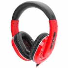 Ditmo DM-2800 Headband Stereo Headphone w/ 3.5mm Plug - Black + Red + Silvery White