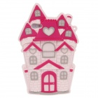 Cute Castle Style Protective Silicone Back Case for Iphone 4 / 4S - Pink + Deep Pink + Grey
