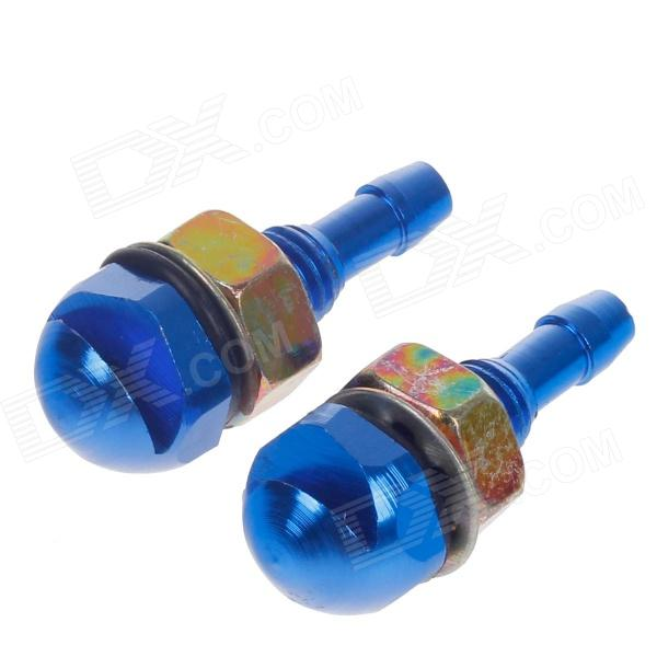 YONGXUN YX-015 Zinc Alloy Car Wiper Water Spray Nozzle Sprinkler Head - Blue + Silver (2 PCS)