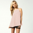 LC2722-3 Fashionable Hollow out Tassel Woven Camisole for Woman - Pink (Free Size)