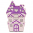 Cute Castle Style Protective Silicone Back Case for Iphone 4 / 4S - Pink + Purple + Grey