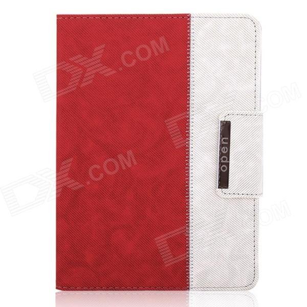 ENKAY ENK-3138 Jean Style PU Leather Stand Case for Ipad 2 / 3 / 4 - Red + White лампа светодиодная skylark а014
