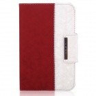 ENKAY ENK-3338 360' Rotation PU Leather Stand Case for Ipad MINI - Red + White