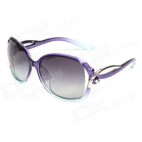 Reedoon 2229 UV400 Protection Resin Lens Polarized Sunglasses for Women - Purple retro women sunglasses polarized driving sun glasses with pc metal hinge shades uv400 protection gafas de sol mujer 4 colors