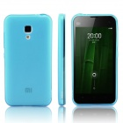 ENKAY Protective Soft TPU Back Case Cover with Anti-dust Plug for MIUI 2A - Light Blue