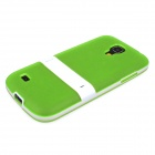 ENKAY Protective Soft TPU Back Case w/ Stand for Samsung Galaxy S4 Mini / i9190 - Green