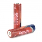 HAORAN Rechargeable 3.7V 2500mAh Protection 18650 Li-ion Battery - Red + Blue (2 PCS)