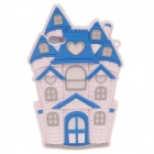 Cute Castle Style Protective Silicone Back Case for Iphone 4 / 4S - Pink + Blue + Grey