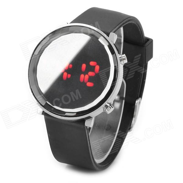072103 Stylish Seven Segment Display LED Wrist Watch - Black (1 x CR2032)