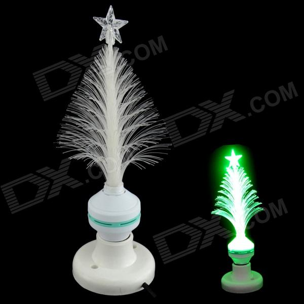XL10 Fiber Optical Flower E27 3W 30lm 560nm LED Green Light Christmas Tree Lamp - White (85~260V)
