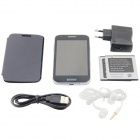 "F9192 MTK6572 Dual-Core Android 4.2.2 WCDMA Bar Phone w/ 4.3"" Capacitive, FM, Wi-Fi and GPS - Grey"