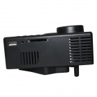 RuiQ UC-30 Mini LCD Projector w/ SD, AV, VGA, HDMI - Black (US Plugs)