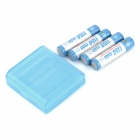 "TrustFire Rechargeable 1.2V ""1150mAh"" Ni-MH AAA Battery - Blue + White (4 PCS)"
