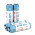 "TrustFire Rechargeable 1.2V ""2700mAh"" Ni-MH AA Battery - Blue + White (4 PCS)"