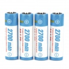 "TrustFire Rechargeable 1.2V ""2700mAh"" Ni-MH AA Battery (4PCS)"