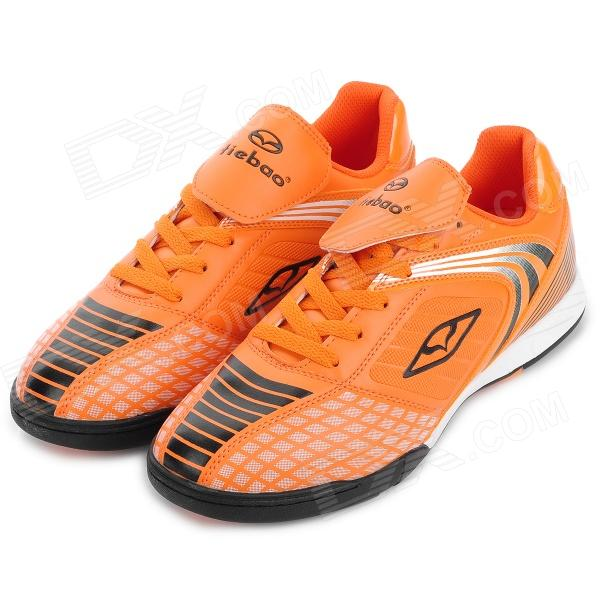 Tiebao 1220 Indoor Football Soccer Shoes - Orange + Black (Size 44) tiebao e1018c professional kids indoor football boots turf racing soccer boots training football shoes