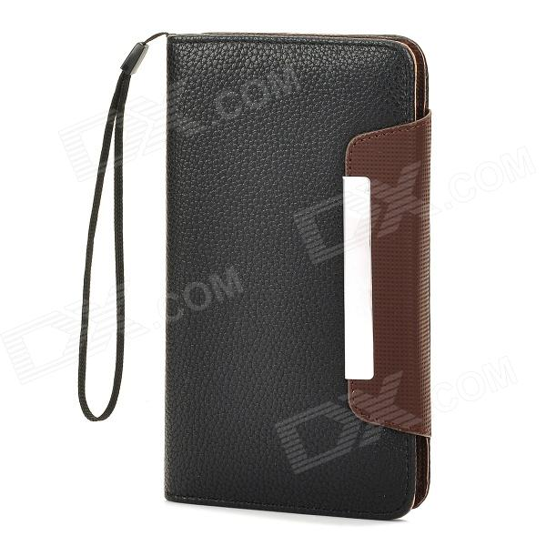Protective PU Leather Flip-Open Case for Samsung i9152, i9200, Galaxy Mega 5.8~6.0 Phones - Black i 6 0 br protective pu case w strap for 5 8 6 0 samsung i9152 i9200 galaxy mega brown