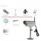 "EYE SIGHT ES-IP915IW  1/4"" CMOS 1.0 MP Waterproof IP Camera w/ 30-IR LED / Wi-Fi / TF - Silver"