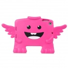 Cute 3D Angel Style Plastic Cover Case for Ipad MINI - Deep Pink + Black