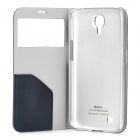HOCO HS-L050 PU Leather Case w/ Transparent Window for Samsung Galaxy Mega 6.3 - Navy Blue