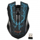 RH5400 2.4GHz 2800dpi Wireless-Game Play Maus Set - Schwarz + Blau (2 x AAA)
