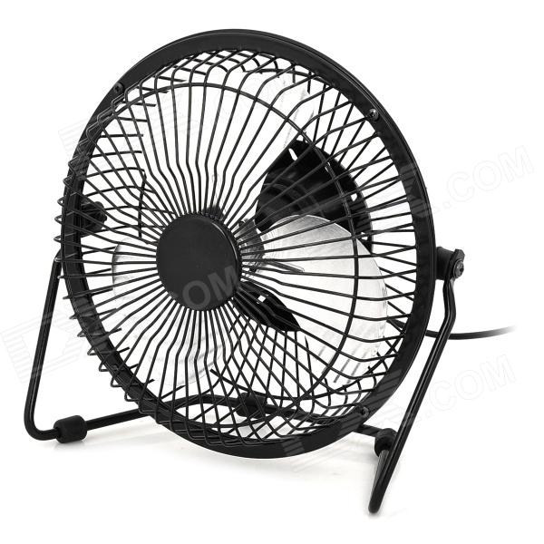Loleng-819 Convenient 360 Degree Revolving USB Powered Mini Fan - Black + Silver