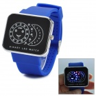 SKMEI 0982 Stylish Creative LED Wrist Watch - Blue + Black + Silver (1 x CR2025)