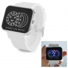 SKMEI 0982 Stylish Creative LED Wrist Watch - White + Black + Silver (1 x CR2025)