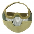 SW2052 Ourdoor War Games Steel Wire Mesh + Nylon Protective Facial Mask - Army Green