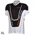 NUCKILY AJ232 Outdoor Cycling Men's Breathable Polyester Jersey Clothes - Black + White (Size XL)
