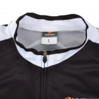 NUCKILY AJ232 Outdoor Cycling Men's Breathable Polyester Jersey Clothes - Black + White (Size L)