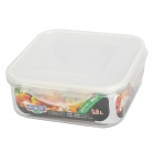 Square Style Plastic Food Container Box - Transparent (1.2L)