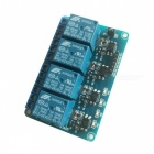 4-Channel 5V Opto-isolator Relay Module w/ High Level Trigger - Blue