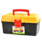 Handy PP Storage Organizer Tool Box - Yellow + Red + Black