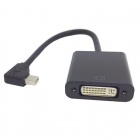CY DP-065-LE Left Angle 90' Mini DisplayPort DP Male to DVI Female Cable for Macbook & ATI - Black