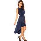 LC2662 Elegant Sexy Sleeveless Drag Back Party Dress for Women - Blue (Free Size)