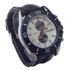Super Speed V0167 Fashionable Silicone Band Analog Quartz Men's Wrist Watch - Black (1 x LR626)
