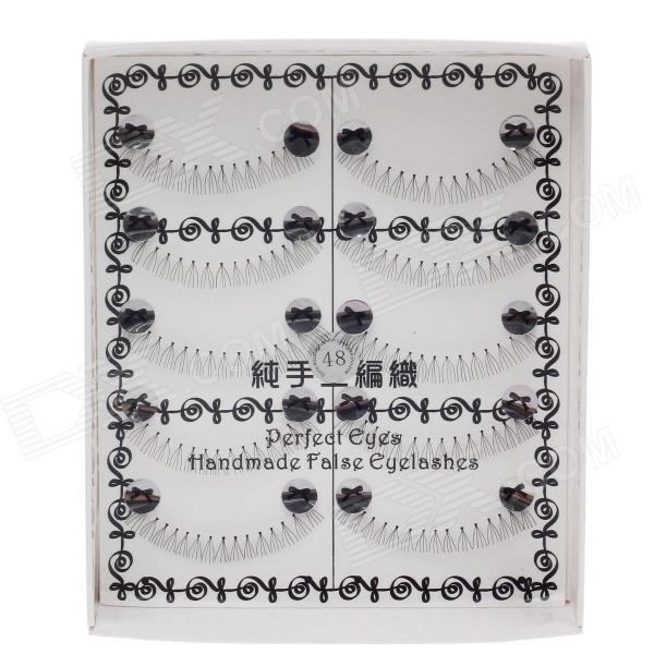 #948 Artificial Eyelashes Bottom Lash Under Lashes Eyelash - Black (5 Pairs) 20pcs lot fdd8782 to 252