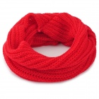 457 Woman's Stylish Wollen Yarn Knitted Neckerchief - Red