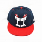 3D Embroidery Monster Teeth Style Hip-Hop Cap - Red + Blue + White