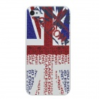 Colorfilm 3D Flag Painting Emboss Protective Plastic Back Case for Iphone 4 / 4S - Multicolored