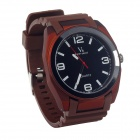 Super Speed V0107 Fashionable Silicone Band Men's Analog Quartz Wrist Watch - Brown (1 x LR626)