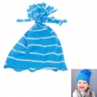 Cute Tassels Decorated Soft Cotton Baby Hat Cap - Blue + White