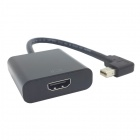 CY DP-066-LE Esquerda Cima 90 'Mini DisplayPort DP para HDMI fêmea cabo HDTV para Macbook & ATI - Black