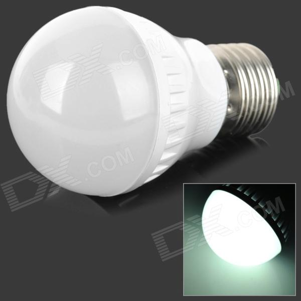 E27 3W 240lm 6400K 9-SMD 3520 LED White Light Lamp Bulb - White + Silver (220~240V)