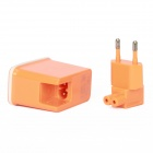 E-119 Dual USB AC Power Charger Adapter for Ipad / Iphone + More - Orange (100~240V / EU Plug)