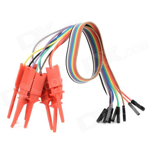 Quick Wire Connection Clip for Logic Analyzer Test - Red (10 PCS) logic16 logic analyzer 100m arm fpga decoder tool r